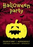 Halloween przyjęcia projekta szablon ilustracji