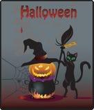 Halloween przyjęcia tło ilustracja wektor