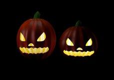 Halloween przyjęcia tło z baniami w trawa nietoperzach M i Obrazy Royalty Free