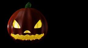 Halloween przyjęcia tło z baniami w trawa nietoperzach M i Obraz Royalty Free