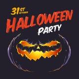 Halloween przyjęcia ulotka Obraz Royalty Free