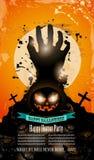 Halloween przyjęcia ulotka z przerażającymi kolorowymi elementami Zdjęcia Royalty Free