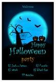 Halloween przyjęcia zaproszenie Wektorowy Halloweenowy projekta szablon ilustracji