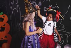 Halloween przyjęcie dla dzieciaków obraz stock