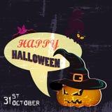 Halloween przyjęcia plakat Obrazy Stock