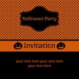 Halloween przyjęcia zaproszenie Fotografia Stock