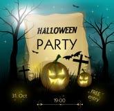 Halloween przyjęcia zaproszenie Zdjęcia Royalty Free