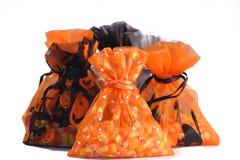 Halloween przysmaki torby Zdjęcia Royalty Free