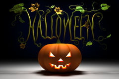 Halloween Pumkin. A halloween pumpkin with letters in the branches Royalty Free Stock Image