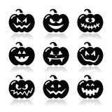 Halloween pumkin  icons set Stock Photography