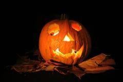 Halloween pumkin with light Stock Image