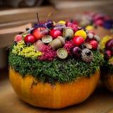 Fall floristic decoration. Royalty Free Stock Photo