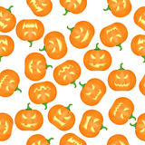 Halloween Pumkins Seamless Pattern Background. Vector Royalty Free Stock Image