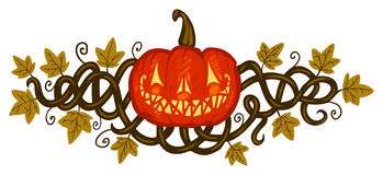 halloween pumpa Stock Illustrationer