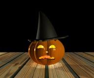 Halloween pumpa - 3D Royaltyfria Foton