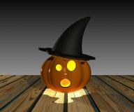 Halloween pumpa - 3D Arkivfoto
