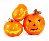 Halloween pumpabakgrund Fotografering för Bildbyråer