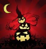 halloween pumpascarecrow Fotografering för Bildbyråer