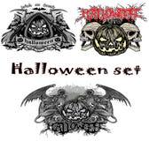 Halloween pumpaset Arkivbilder