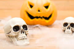 halloween pumpaskallar Arkivbilder