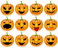Halloween pumpasmileys arkivbild