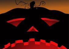 Halloween pumpkin. From bottom view stock illustration