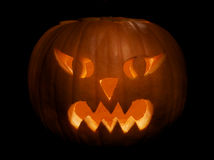 Halloween pumpkin. On black background Royalty Free Stock Images