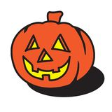 Halloween pumpkin. Vector illustration isolated over white background jack o' lantern Stock Photos