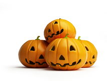 Halloween pumpkin. Is isolated on a white background Stock Images