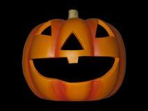Halloween Pumpkin. A single halloween pumpkin isolated on black Stock Photography