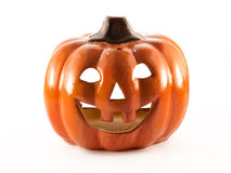 Halloween pumpkin. Evil halloween pumpkin isolated on white background stock photos