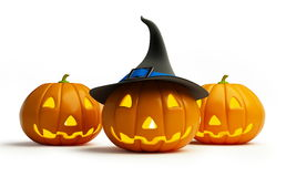 Halloween pumpkin. Isolated on a white background Royalty Free Stock Photos