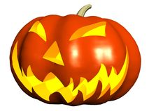 Halloween pumpkin. On white background stock illustration