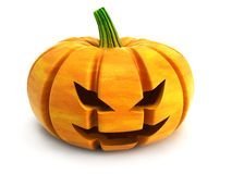 Halloween pumpkin. Isolated 3d rendering Royalty Free Stock Photos