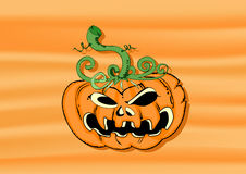 Halloween pumpkin. Halloween horror pumpkin vector illustration Stock Photo