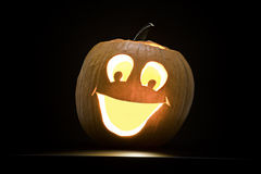 Halloween Pumpkin. G with a smiley face stock image