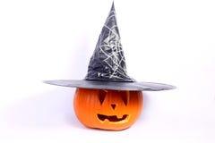 Halloween pumpkin. With a hat Stock Photos