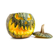 Halloween pumpkin. On a white background Royalty Free Stock Images