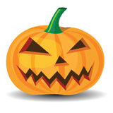 Halloween pumpkin. With evil grinning expressions Stock Photo