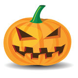 Halloween pumpkin. With evil grinning expressions Stock Images