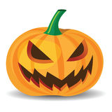 Halloween pumpkin. With evil grinning expressions Royalty Free Stock Images