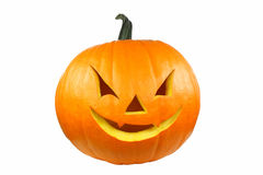 Halloween Pumpkin. Isolated on white Background Royalty Free Stock Photo