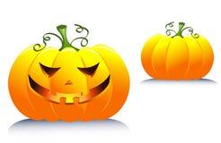 Halloween pumpkin. Isolated on white. Cartoon illustration Royalty Free Stock Photography