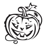 Halloween pumpkin. Monochrome illustration of halloween pumpkin Royalty Free Stock Photography