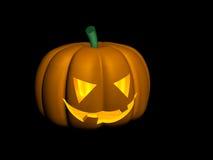 Halloween Pumpkin. Illuminated Halloween Jack o Lantern stock illustration