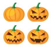 Halloween pumpkin. With evil grinning, vector format Stock Photos