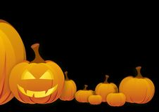 Halloween pumpkin. Black background and halloween pumpkin Vector Illustration