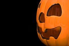Halloween pumpkin. With black background Stock Photo