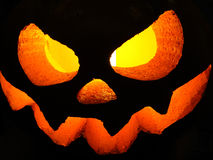 Halloween pumpkin. In the dark Royalty Free Stock Photography
