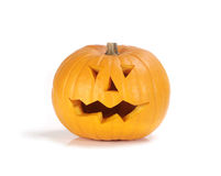Halloween pumpkin. On a white background Royalty Free Stock Photography